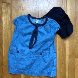 Baby Gap 6-12 mo chambray denim dress